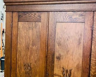 "$250 LARGE ANTIQUE WARDROBE  48""L x 15""D x 83""H"