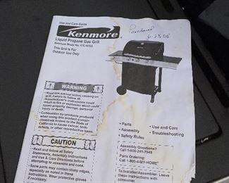 $45 KENMORE BARBEQUE GRILL