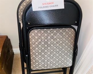 $10 EACH FOLDING CHAIRS