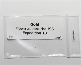 S3   Gold Flown In Space Lot of 3 Flown Aboard the ISS Expedition 10	$84.95