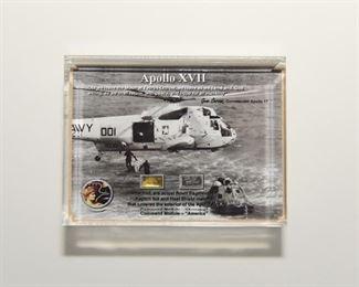 S2   NASA Flown Apollo XVII Heat Shield Material & KAPTON FOIL Lucite$75.95