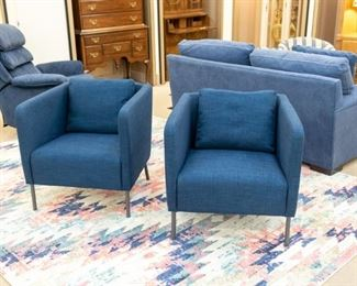 2 adorable chairs and large area rug!