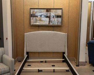 Linen platform bed!