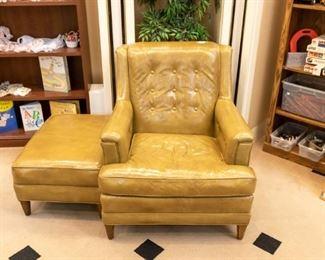 HENREDON chair and ottoman.