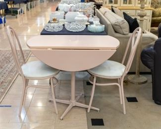 Pink Bistro Table and chairs!