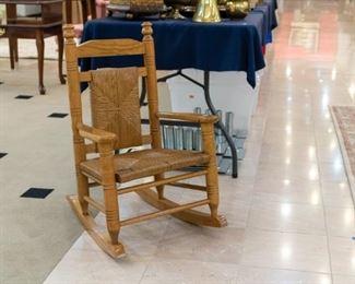 Oak HIGH QUALITY child's rocking chair!