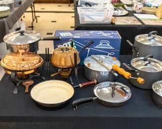 Fondue's, small kitchen appliances, cookware