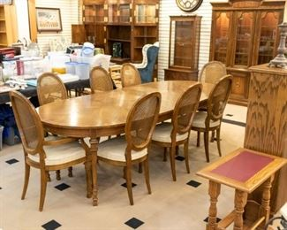 DREXEL dining table and chairs.