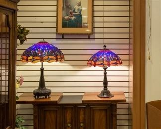 Tiffany Style Lamps and DREXEL buffet!