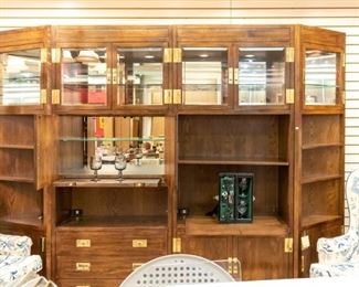 HENREDON 4 piece wall unit - can be used for serving.  SO NICE!