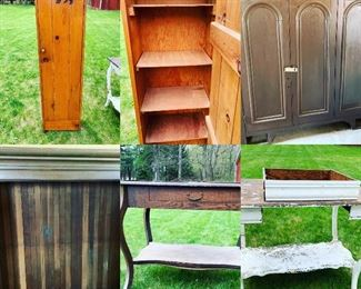 We've got furniture, tables, cabinets, Hoosier cabinet, and more.  Contact Steph at (518) 944-0256!