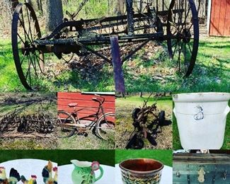 Antique farm equipment, bicycles, beautiful things too. We've got so much to sell. Lighten our load and take a gander see with me.  Distanced. Private.  Mask worn.  Call/text Steph at (518) 944-0256