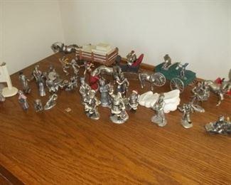 Hudson Villagers pewter figurines