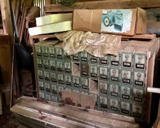 Vintage mailboxes in the barn