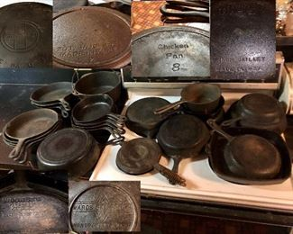 Lots of great cast iron, Griswold, Wagner ware, Lodge, USA , some unmarked and more!