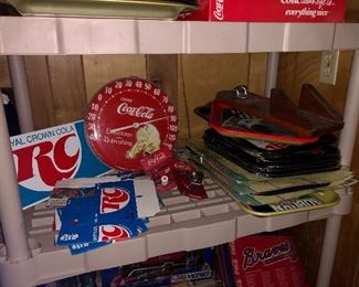 "Coke""Sprite Boy"" thermometer , RC cartons, coke trays"