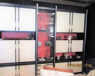 MCM CABINET stunning, chrome and white and black