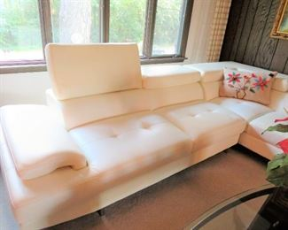 PELLISSIMA BONDED LEATHER WITH CHROME LEGS, SOFA, WITH L RETURN,