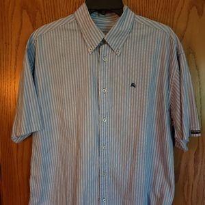 Burberry Black label mens ss striped shirt sz L