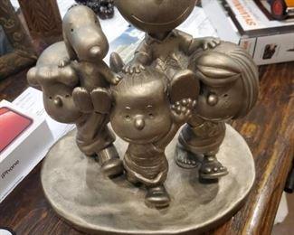 Peanuts Gang Pewter Sculpture (Rare)