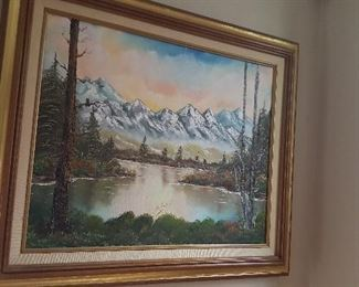 9. VERY NICE EXPENSIVE OIL PAINTING $175  OR MAKE OFFER.
