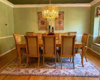 DINING ENSEMBLE AND RUG