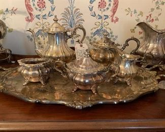 Gorham Rosewood coffee and tea service
