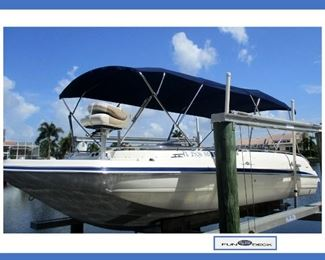"Fabulous & Clean 2006 Hurricane Fundeck GS232 23' 2"" Boat with Many Extras; all the extras are listed in Details."