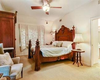 Prudent Mallard Bed (missing tester)                             Origin: Louisiana Year: 1850 - 1860