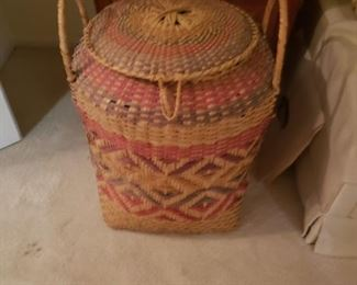 Choctaw Indian Hand Woven Large Basket