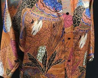 Vintage Silk Drop Waist Pleated Skirt Dress