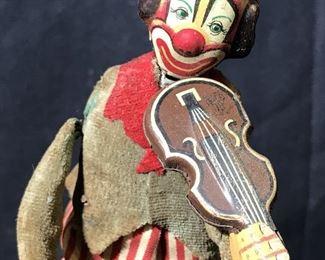 Vintage Wind Up Clown Doll