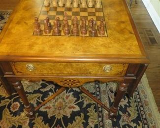 Maitland Smith Burl Wood Game Table 30 H x 25 L x 25 W
