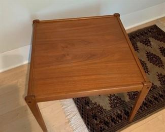 """House of Denmark Square Teak Occasional Table 23"""" Sq $500"""