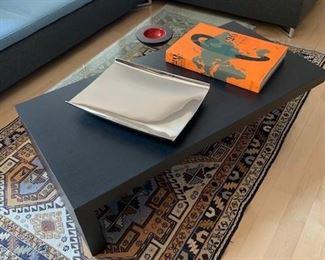 2-Part Paired Ebony Oak and Glass PELE MELE by Bernard Moise for Ligne Roset $1100