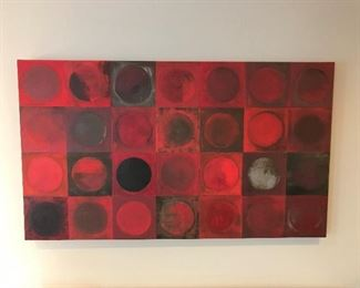 Beautiful Wood Framed Painting by Artist from Central West End  (63 L x  37  H and 3 inch Width)