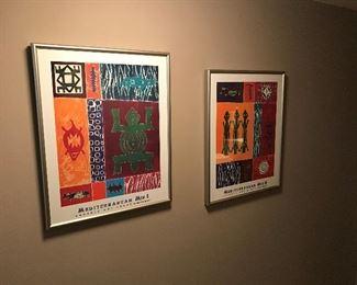 2 Framed Prints SET (AZ Art Fair) (20 L x 25H)