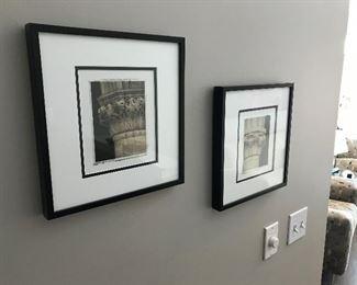 Matching Framed Column Prints - Sold as a Set 12 x 12