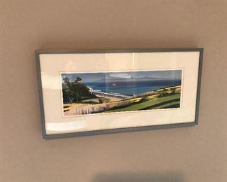 California Beachfront Print Silver Framed