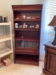 3- Five stacks modern attorney bookcases 	$ 295
