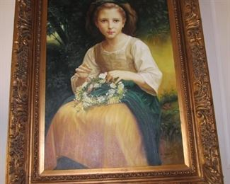 Elegant Victorian Style painting in Beautiful gold frame