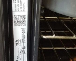 GE stainless steel range model no. JS750SF1SS; installed  October 2013