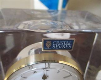 Cristal Sevres Clock