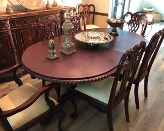 Dining room table and 6 chairs - extremely high end