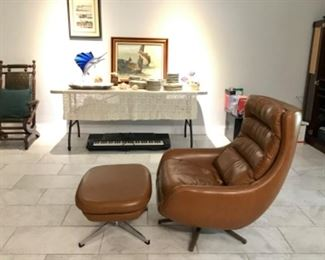 Scan design mid century chair & ottoman