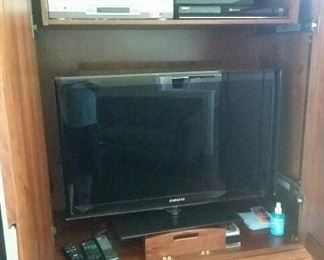 Large flat screen television
