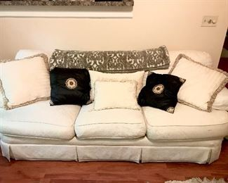 $75-White Neutral Sofa