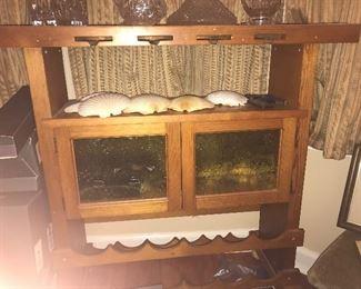 $45-vintage wine rack/table w/ storage
