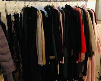 Many designer labels, Lauren, St. John, M Kors, Calvin Klein, etc