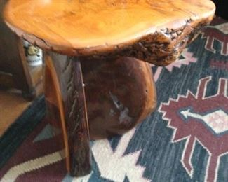 Carned wooden Stool